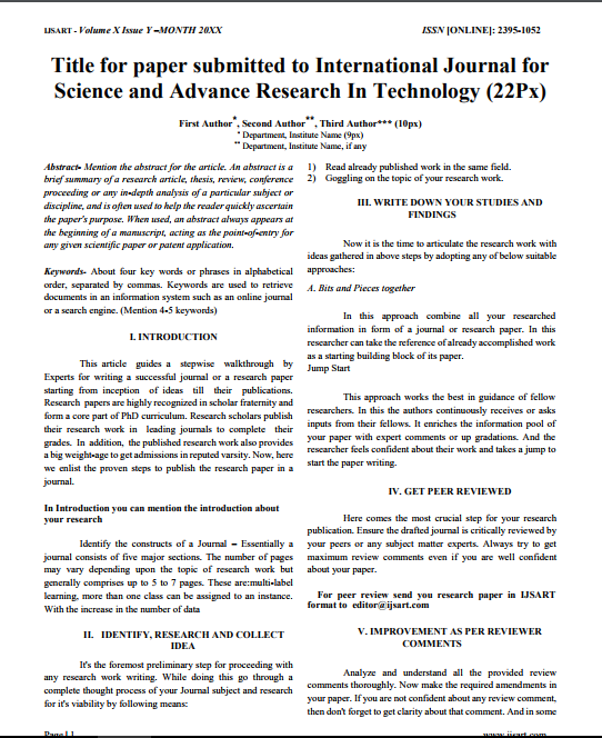 engineering research paper format Tissue engineering part a, part b reviews, and part c methods a primary task of a researcher is the communication of technical results to the broader scientific community whether in written or oral form, scientific communication is a critical step in the scientific method and is the key driver of movement within a scientific.